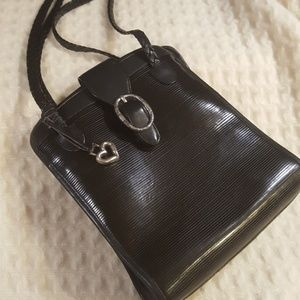 Unique Brighton Black Leather Satchel